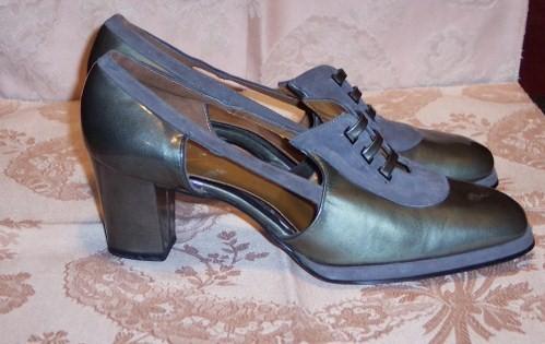Sh 115 Johansen grey patent leather & suede shoe (2)