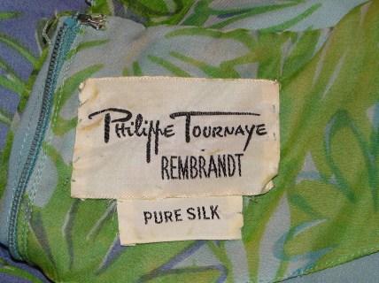 Philippe Tournaye Rembrandt vintage silk dress