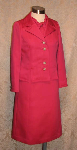1960s Vintage Baron Peters (Woolf Brothers) Hot Pink Peau De Soie Dress & Jacket Suit (7)