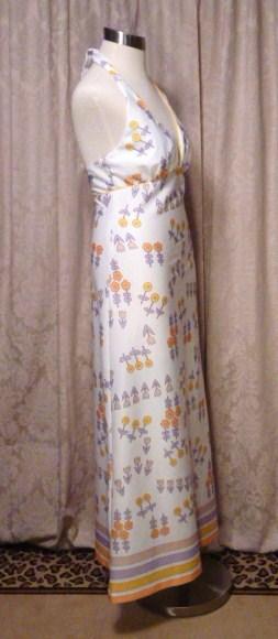 Julie Miller California 1970s vintage halter dress & scarf (8)