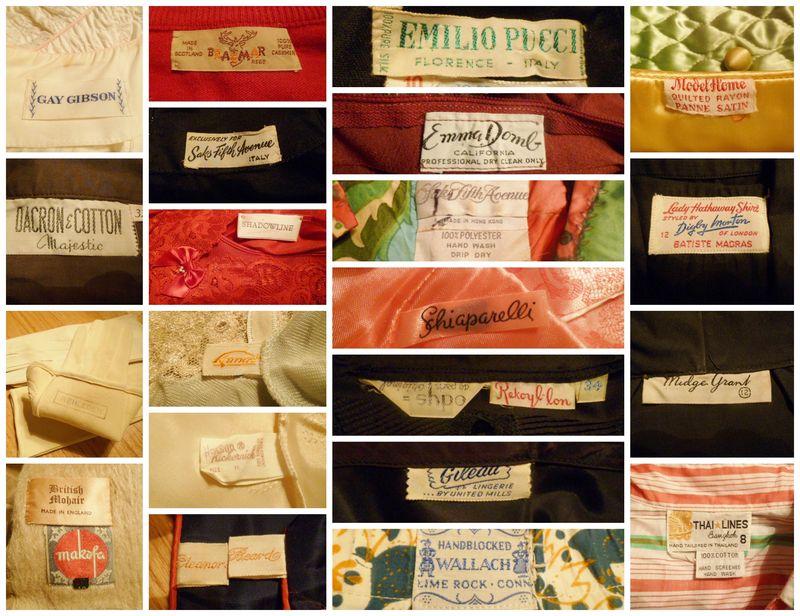 Vintage labels collage