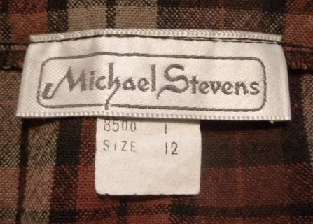 Vintage Michael Stevens orange brown pleated plaid wool wrap skirt (1)
