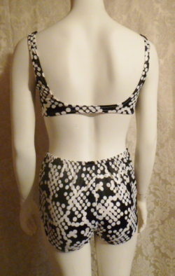 1960s 1970s vintage Jantzen vintage bikini black and white polka dot two piece bathing suit (5)