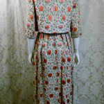 St. Regis Room Simpson's 1960s Vintage floral lame' silk damask brocade evening gown & bolero jacket (3)