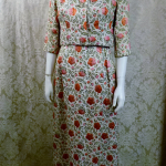 St. Regis Room Simpson's 1960s Vintage floral lame' silk damask brocade evening gown & bolero jacket (4)