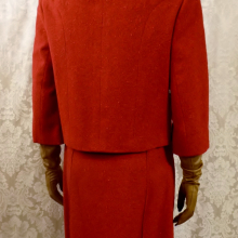 1960s vintage Sybil Connolly couture red irish tweed suit (2)
