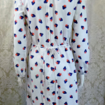 1970s vintage Casi  strawberry print red white blue dress made in Hong Kong British Crown Colony label (4)