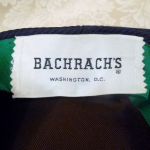 Vintage Bachrach's Washington DC Navy Blue Ribbed Beret colored ribbon bow (1)