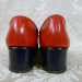 Vintage 1960s Hi Brows navy blue red patent leather oxford spectator shoes  (5)