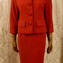 1960s vintage Sybil Connolly couture red irish tweed suit (9)