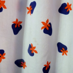 1970s vintage Casi  strawberry print red white blue dress made in Hong Kong British Crown Colony label (5)