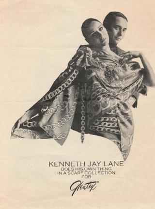 Kenneth-jay-lane- vintage scarf ad Glentex