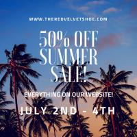 50% Off Everything Summer Sale The Red Velvet Shoe Vintage