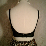 1950s Warner's Body Do Black Lace Bullet Bra  (4)