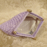 Vintage raffia beaded lavender orchid purple clutch It's in the Bag Ritter 1960s (3)