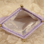Vintage raffia beaded lavender orchid purple clutch It's in the Bag Ritter 1960s (4)