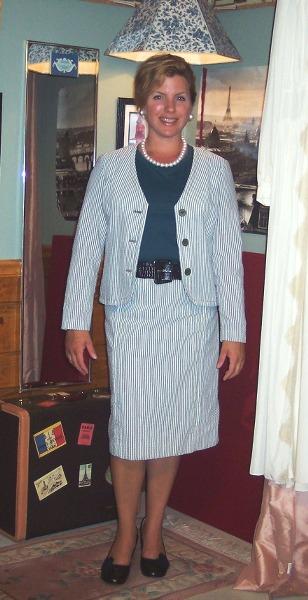 Grammy's vintage seersucker suit