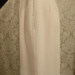 Vintage 1980s Carolyne Roehm ivory white crepe wool pencil skirt. (5)