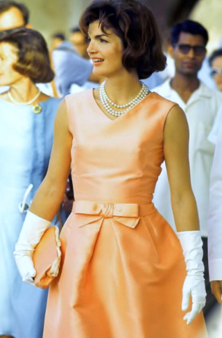 Jackio-o-apricot-peach-silk-zibeline-dress-india-oleg-cassini