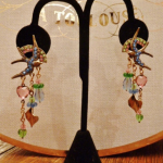 Vintage Banana Bob Birds in Flight chandelier earrings  (2)