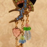 Vintage Banana Bob Birds in Flight chandelier earrings  (4)