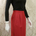 1980s vintage Christian Dior red skirt suit pockets (6)