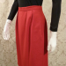 1980s vintage Christian Dior red skirt suit pockets (3)