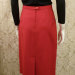 1980s vintage Christian Dior red skirt suit pockets (4)