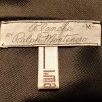 1970s vintage ralph montenero plunge front keyhole back sheer black negligee  (1)
