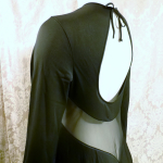 1970s vintage ralph montenero plunge front keyhole back sheer black negligee  (11)