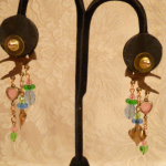 Vintage Banana Bob Birds in Flight chandelier earrings  (5)
