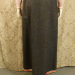 Vintage 1970s Agile Florence Walsh slate grey wool maxi wrap skirt red pink ribbon stripe trim (4)